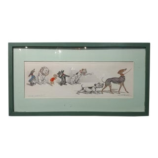 "1930s Boris O'Klein ""Naughty Dogs"" Original Etching"