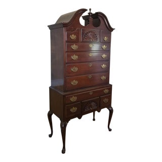 Drexel Heritage Mahogany Highboy Chest Of Drawers