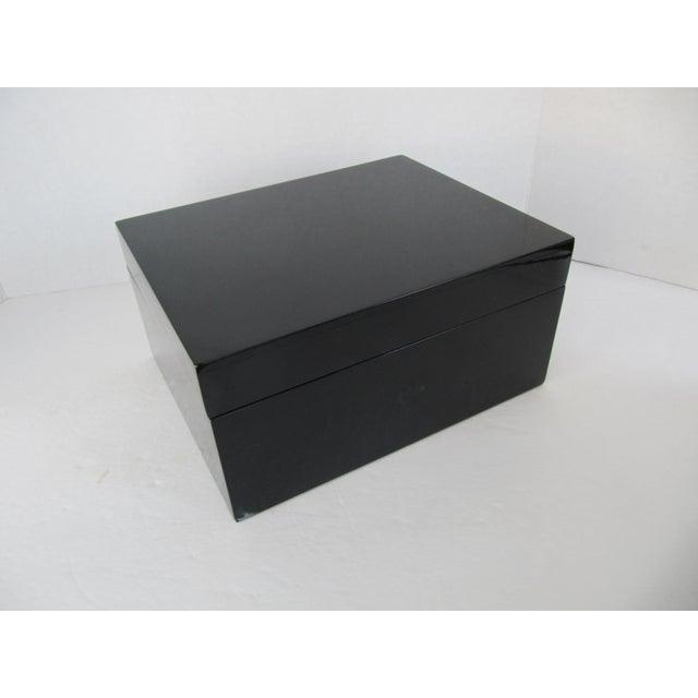 Minimalist Black Lacquer Box - Image 2 of 6