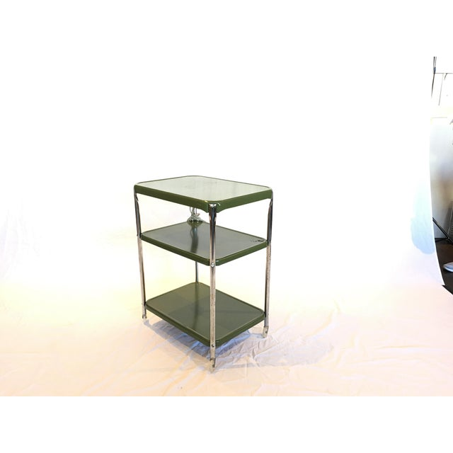 Image of Metal Cosco Rolling Bar Cart