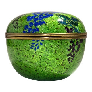 Circa 1860 Meiji Period Japanese Cloisonné Tea Caddy