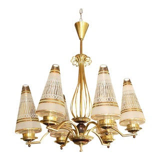 1940s Vintage French Chandelier