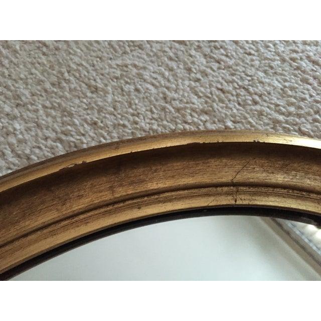 Vintage Gilt Wood Oval Mirror - Image 4 of 8