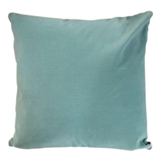 Kim Salmela Light Blue Velvet Pillow