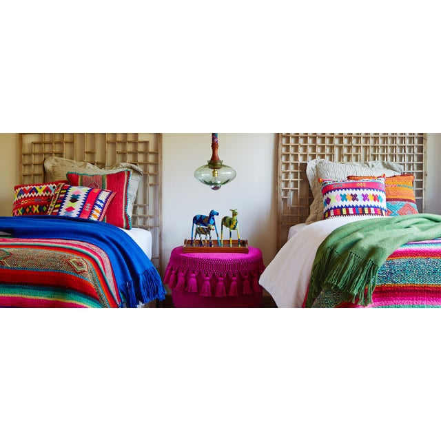 Image of Peruvian Embroidered Pink Pillow Cover