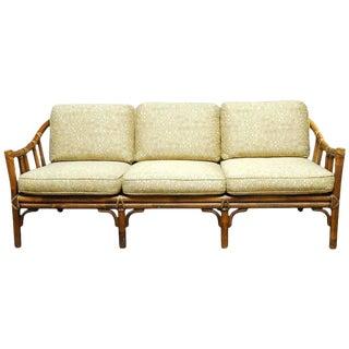 Organic Modern Bamboo Rattan Sofa by McGuire
