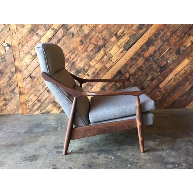 Custom Danish Mid-Century Style Lounge Chair - Image 3 of 5
