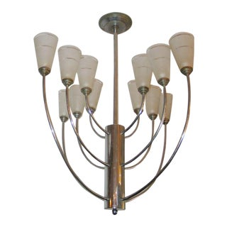 French Art Deco Chandelier Attributed to Jacques Adnet