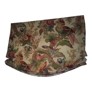 Lee Jofa Print Linen Roman Shade