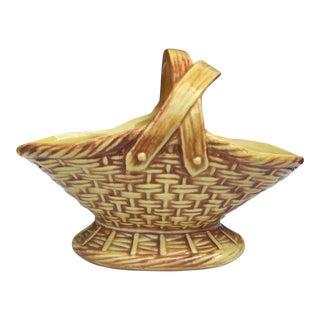 Vintage McCoy Pottery Handled Basket