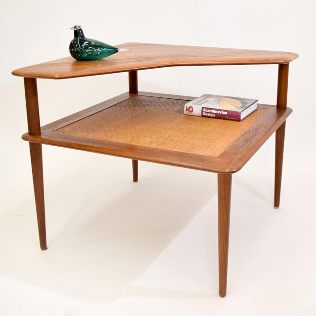 Teak and Cane Side Table by Hvidt & Mølgaard - Image 3 of 9
