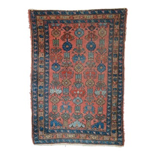 "Coral Field Vintage Persian Small Rug - 3'4"" x 4'10"""