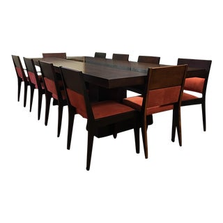 Dialogica 10-Foot Custom Made Dining Table with Ten Matching Chairs