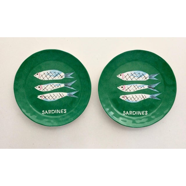 "Danielle Kroll ""Sardine"" Pictorial Dessert Plates - A Pair - Image 4 of 4"