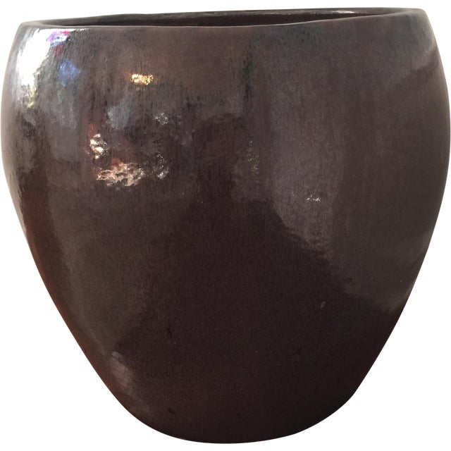 Image of Large Glazed Ceramic Architectural Pot