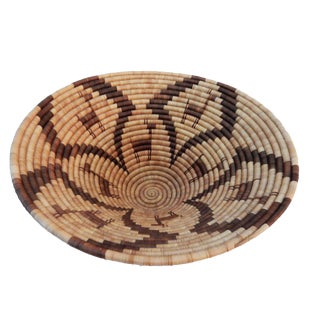 Vintage Botswana Palm Leaf Basket Bowl