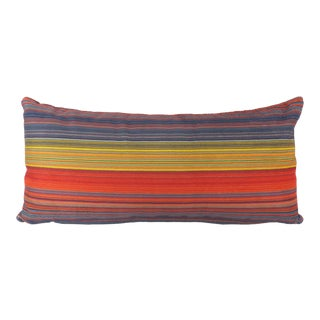 Custom Pin-Striped Kidney Pillow