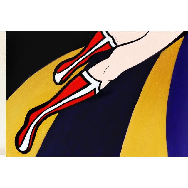 """Wonder Woman"" Original Acrylic Painting by Hatti Hoodsveld - Image 5 of 8"