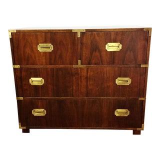 Baker Furniture Mid Century Campaign Style Dresser