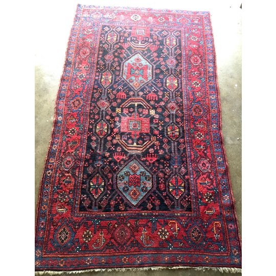 "Semi-Antique Persian Rug - 4'6"" x 7'5"" - Image 2 of 6"