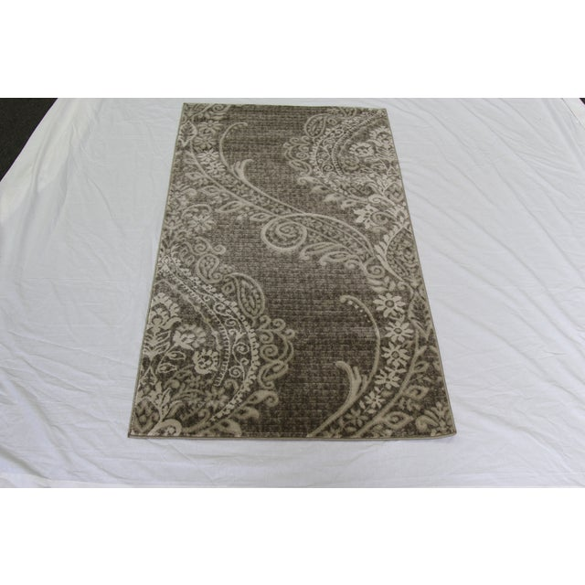 Gray Damask Rug - 3' X 5' - Image 2 of 4