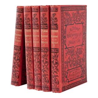 5 Volume Set Memorias De Un Medico of Alehandro Dumas