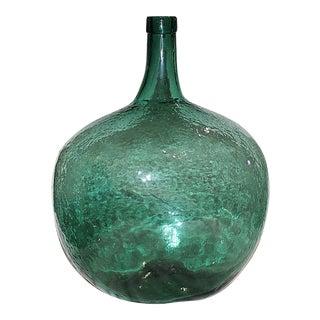 Blue Demijohn Blown Bottle