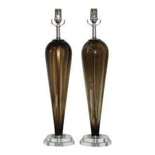 Bronze Murano Teardrop Lamps