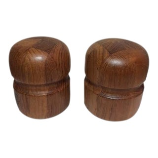 Vintage Danish Modern Teak Salt & Pepper Shakers