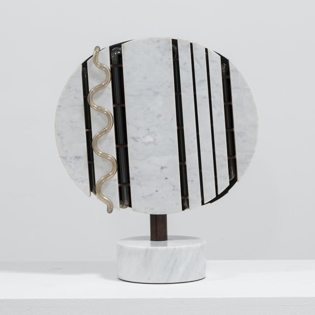 A Marble and Neon Light Sculpture by Sylvia Jaffe 1970s - Image 3 of 5