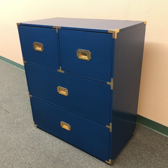 Blue Campaign Style Chest of Drawers - Image 7 of 7