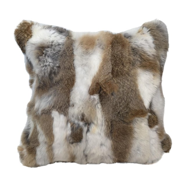 Rabbit Fur Down Pillow - Image 1 of 6