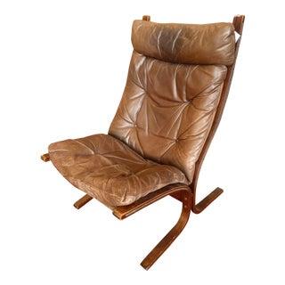 Westnofa Vintage Siesta Leather Lounge Chair