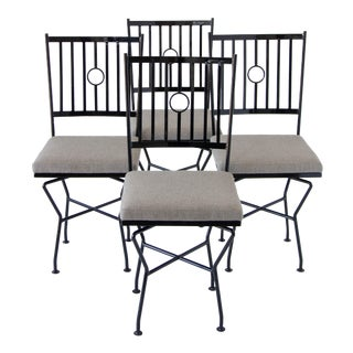 Swivel Wrought Iron Patio Dining Chairs - 4