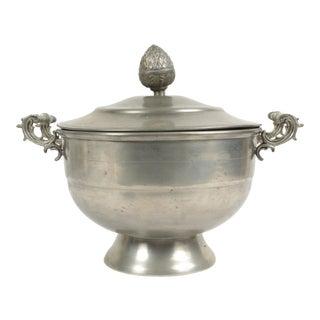 Belgian Pewter Sugar Bowl