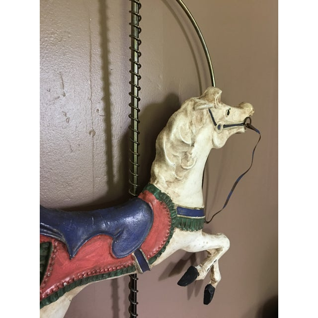 Curtis Jere Carousel Horse Wall Hanging - Image 6 of 7