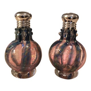 Hand Blown Glass Salt & Pepper Shakers