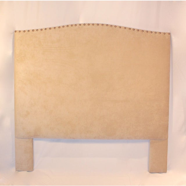 Custom Queen Neutral Tufted Headboard - Image 3 of 5