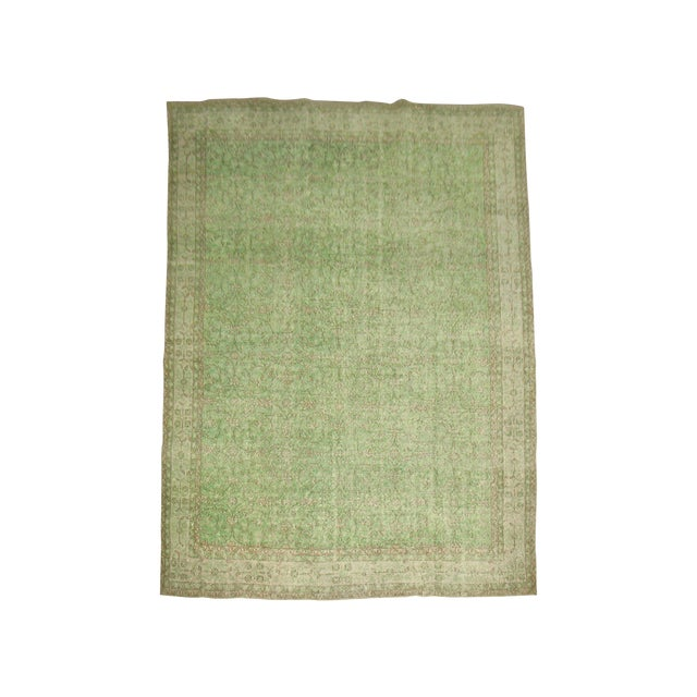 Turkish Green Over-Dyed Rug - 7'1'' X 10'5'' - Image 1 of 5
