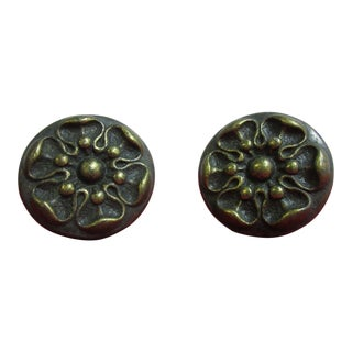 Henredon Country French Drawer Handles - A Pair