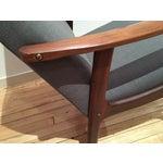 Image of Danish Modern Teak Arm Chairs - Pair