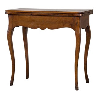 Antique French Walnut Game Table circa 1770