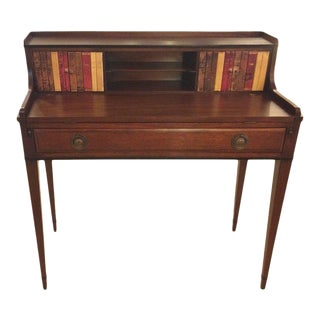 Mahogany and Tooled Leather Writing Desk