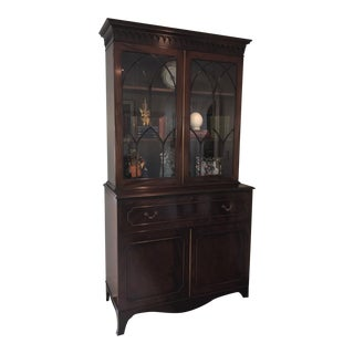 English Mahogany Secretary Desk Cabinet