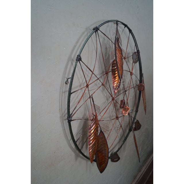 Curtis Jere Metal Dreamcatcher Wall Sculpture - Image 3 of 10