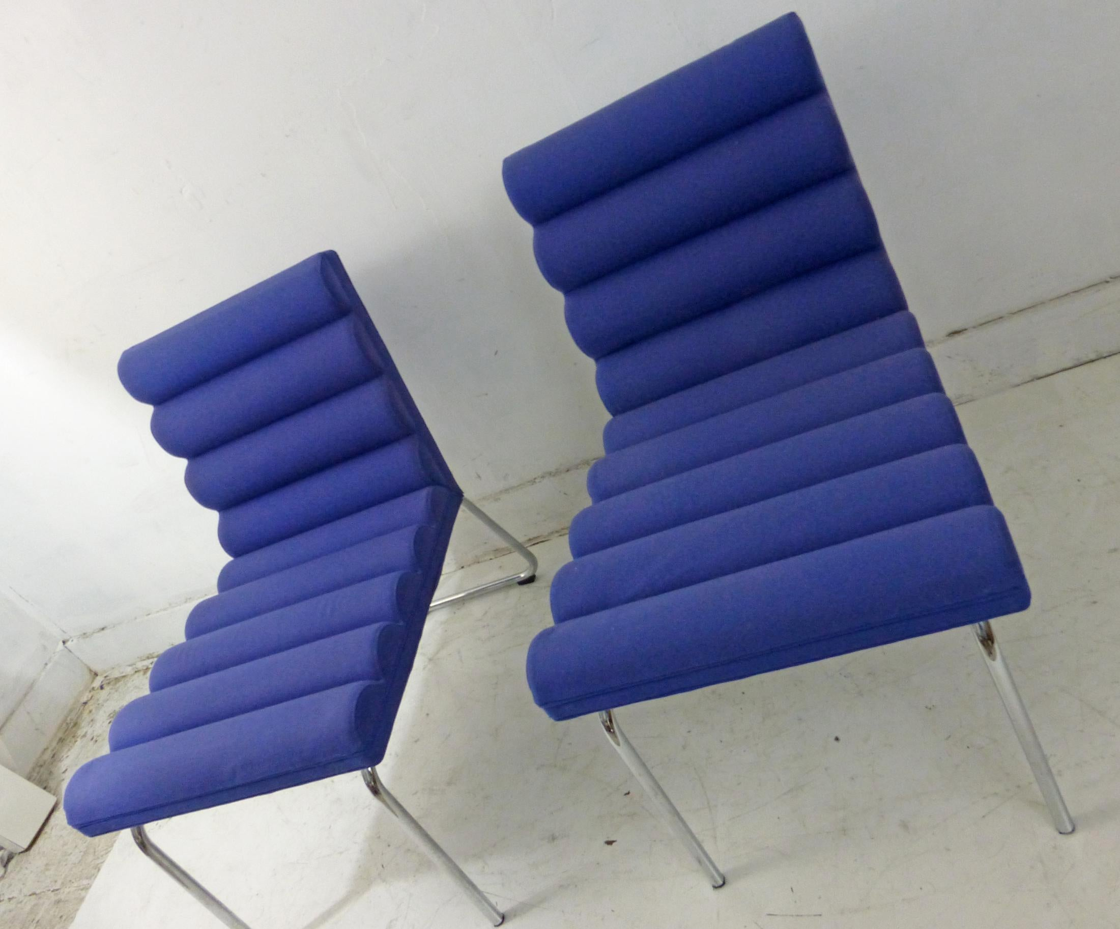 Gunilla Allard Lammhults Chicago Easy Lounge Chairs a Pair Chairish
