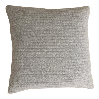Cashmere/Wool Cable Knit Pillow