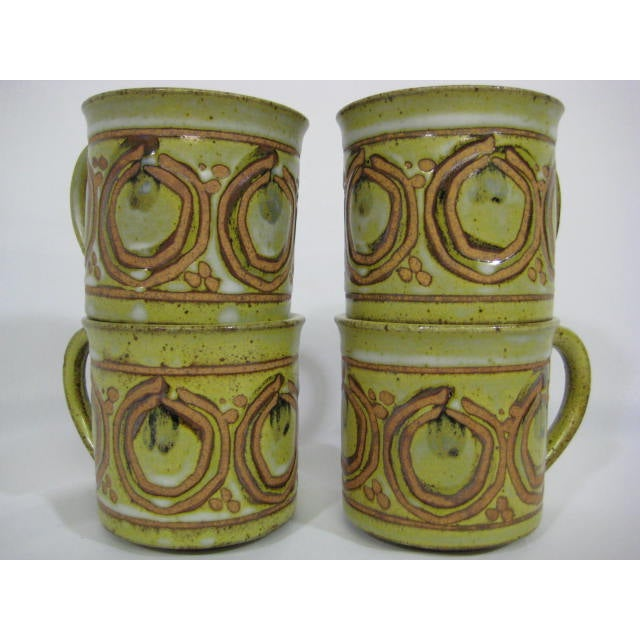 Vintage Stoneware Mugs - Set of 4 - Image 4 of 7