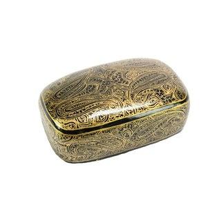 Golden Boteh Kashmiri Accent Box