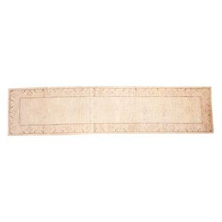 "Antique Distressed Khotan Rug Runner - 3' x 12'6"""